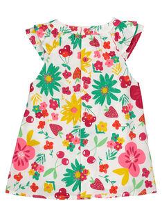 Babykleid aus Popeline für Mädchen FIYEROB2 / 19SG09M2ROB000