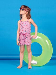 Wassermelonendruck und Streifen Jumpsuit mit dünnen Trägern LAPLACOMB2 / 21S901T4CBL000