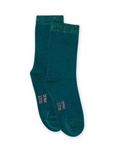Blaue Socken für Baby-Mädchen MYAJOCHO3 / 21WI0115SOQ714