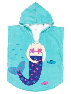 Badeumhang mit Meerjungfrau für Mädchen FYACAPEX / 19SI01K1CDB203