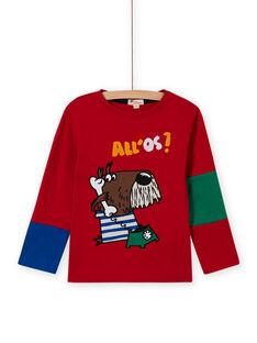 Rotes Hunde-T-Shirt für Jungen MOMIXTEE4 / 21W902J2TML505