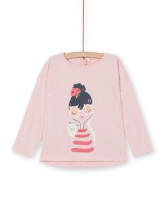 Langarm-T-Shirt mit Katze und kleinem Mädchen Druck LAROUTEE1 / 21S901K1TMLD326
