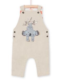 Beige Latzhose Baby Junge LUPOESAL / 21SG10Y1SAL811