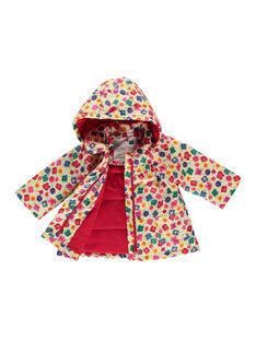 Baby-Regenjacke mit Blumenmuster für Mädchen FICOIMP / 19SG09X1IMP099