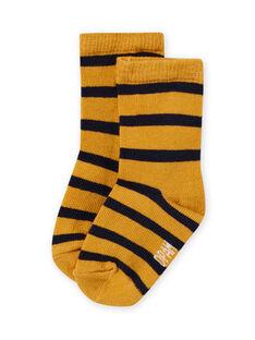 Baby Junge gelb gestreifte Socken MYUJOCHOR2 / 21WI101CSOQ117