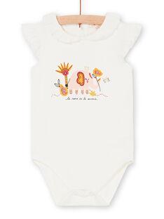 Aus weißem Baby Mädchen Bodysuit LITERBOD / 21SG09V1BOD001