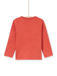 Jungen-T-Shirt in Orange und Gelb MOPATEE1 / 21W902H3TMLE415