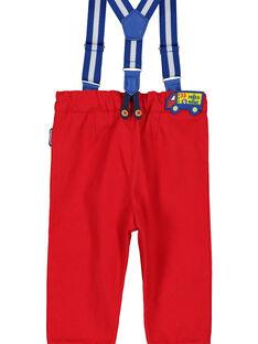 Rote Babyhose mit Trägern für Jungen FUCOPAN / 19SG1081PANF505