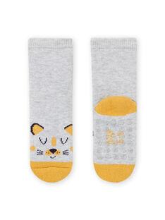 Graue Socken mit Leopardenmuster für Baby-Jungen MYUJOCHOB1 / 21WI1017SOQ943