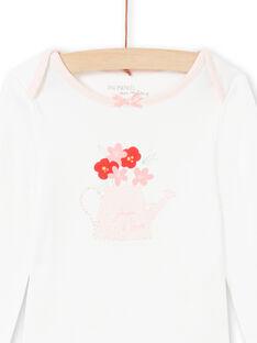 Baby Mädchen rosa und ecru Strampler MEFIBODJAR / 21WH13B3BDL001