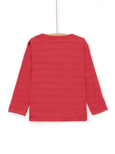 Rotes Langarm-T-Shirt - Kind Junge LOROUTEE1 / 21S902K2TML330