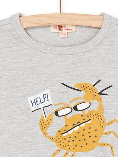 Graues und gelbes T-shirt - Kind LONAUTI3 / 21S902P1TMCJ922