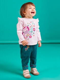 Baby Mädchen Wendehose Ente blau MITUPAN / 21WG09K1PAN714