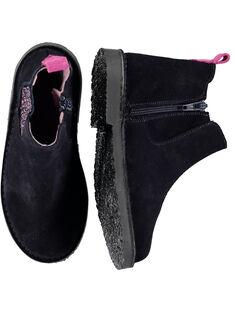 Marineblaue Chelsea-Stiefel aus Lackleder für Kinder Mädchen GFBOOTMAR / 19WK35IDD0D070