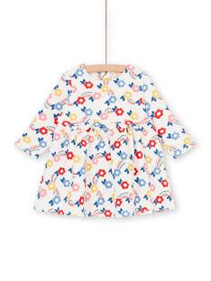 Blau und blau Baby Mädchen Blumendruck Kleid LIHAROB1 / 21SG09X1ROB001