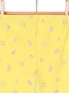 Gelbe Leggings für Kinder und Mädchen LYAJAULEG1 / 21SI01O1CAL116