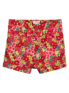 Baby-Shorts mit Blumenmuster für Mädchen FIYESHO1 / 19SG09M1SHO000