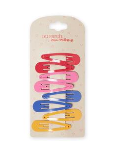 Set mit 8 sortierten einfarbigen Haarspangen für Mädchen MYAJOCLIC3 / 21WI01S3BRTD325