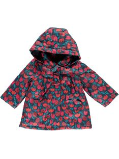 Baby girls' hooded raincoat DIROUIMP / 18WG0961IMP099