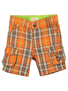 Karierte Bermuda-Shorts für Jungen FOYEBER4 / 19S902M1BERF519