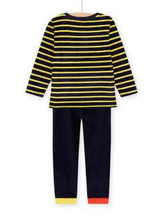 Pyjama-Set aus Samt mit Tiermotiven für Kinder Jungen MEGOPYJRAY / 21WH1291PYJ705