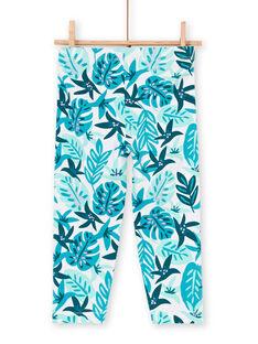 Leggings blau Kind Mädchen LYAVERLEG / 21SI01Q1CAL001