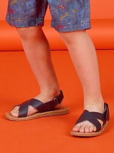 Marineblaue Sandalen für Jungen LGSANDLEO / 21KK3658D0E070