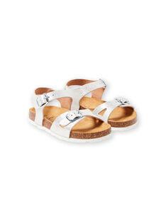 Silberne Sandalen Baby Mädchen LFNUARGENT / 21KK355QD0E956