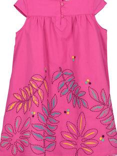 Rosafarbenes Baumwollkleid für Mädchen FATUROB2 / 19S901F5ROB712