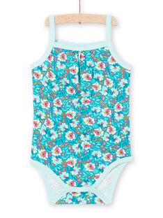 Baby Mädchen türkis Bodysuit LEFIBODMOT / 21SH13G3BDLC216