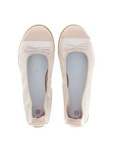 Girls' leather ballet pumps CFBALRINE / 18SK35W2D41030