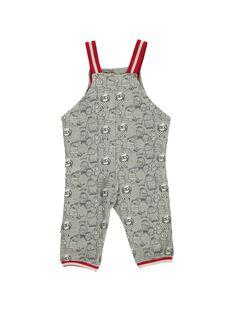 Baby boys' fleece dungarees DUROUSAL / 18WG1021SAL099