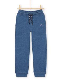 Jogginghose - Junge Kind - blau meliert LOJOJOB3 / 21S90243JGB222