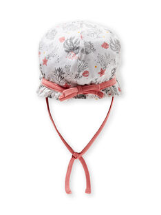 Weißer Hut mit ausgefallenem Geburtsdruck LOU2CHA / 21SF40I1CHA000