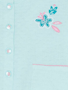 Gletscherblaue Baby-Strickjacke für Mädchen JIQUACAR / 20SG09R1CAR219