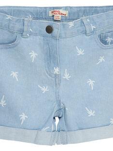 Ausgewaschene und bedruckte Jeans-Shorts mit Palmen JAJOSHORT3 / 20S901T1D30P272