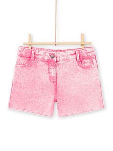 Acid Wash Shorts für Mädchen in Rosa LABONSHORT1 / 21S901W2SHOD311