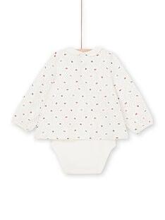 Aus weiß und rot Körper mit Tupfen und Blumen Baby Mädchen LIHABOD2 / 21SG09X1BOD001