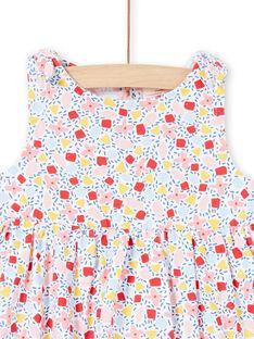 Weißes Baby Mädchen Kleid LIPLAROB2 / 21SG09T2ROB000