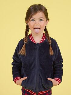 Blaue Wende-Teddy-Strickjacke für Mädchen MAMIXCAR2 / 21W901J1CARC205