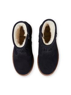 Marineblaue Stiefel für Mädchen KFBOOTFRAN / 20XK35C1D0D070