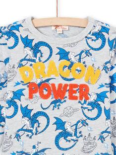 Graues und blaues Drachen-T-Shirt für Jungen MOPLATEE1 / 21W902O2TMLJ922