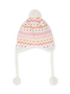 Strickmütze für Baby-Mädchen mit Rehkitz-Muster MYISAUBON1 / 21WI0954BON001