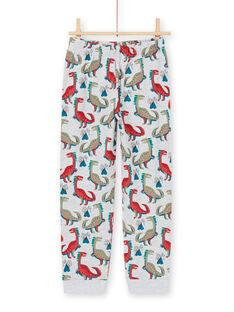 Graues und blaues Pyjama-Set T-Shirt und Hose für Jungen MEGOPYJMAN1 / 21WH1272PYGJ922