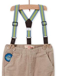 Baby Boy karierte Hose mit gestreiften Hosenträgern MUPLAPAN2 / 21WG10O2PAN817