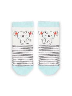 Baby Junge weiß und Himmel gestreiften Socken LYUPOECHO1 / 21SI10Y1SOQ001