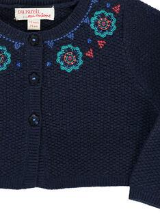 Baby girls' bolero cardigan DIBLECAR1 / 18WG0991CARC205