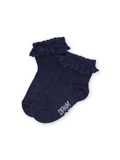 Layette-Socken für Mädchen LYIJOSOQDEN3 / 21SI0941SOQ070