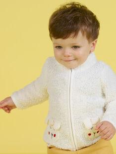 Baby Boy's Ecru Schaf Druck Weste MUMIXGIL / 21WG10J1GIL001