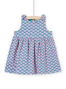 Baby Mädchen türkisfarbenes Kleid LIPLAROB3 / 21SG09T1ROBC216